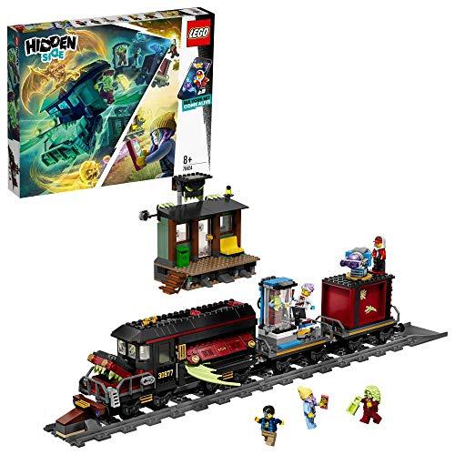 LEGO - Hidden Side Expreso Fantasma Juguete de construcción con realidad aumentada, incluye tren y minifiguras de fantasmas para atraparlos