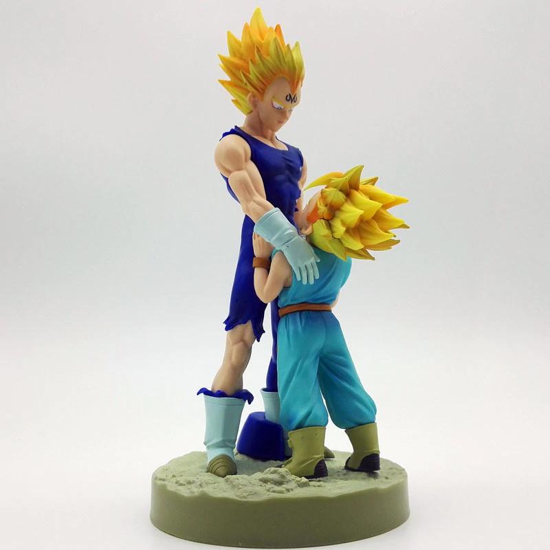 """Diorama de 20 cm """"Padre e hijo"""" - Trunks y Vegeta"""