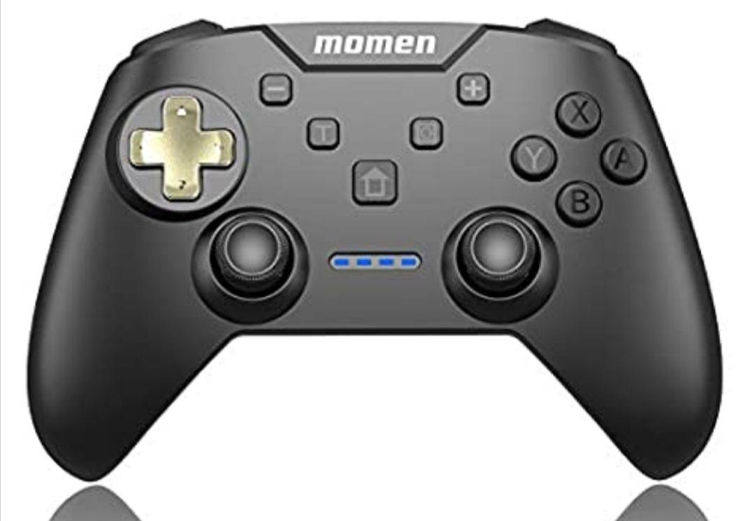 momen Nintendo Switch Controller Wireless Switch Pro Controller - Controlador inalámbrico con batería recargable dorado