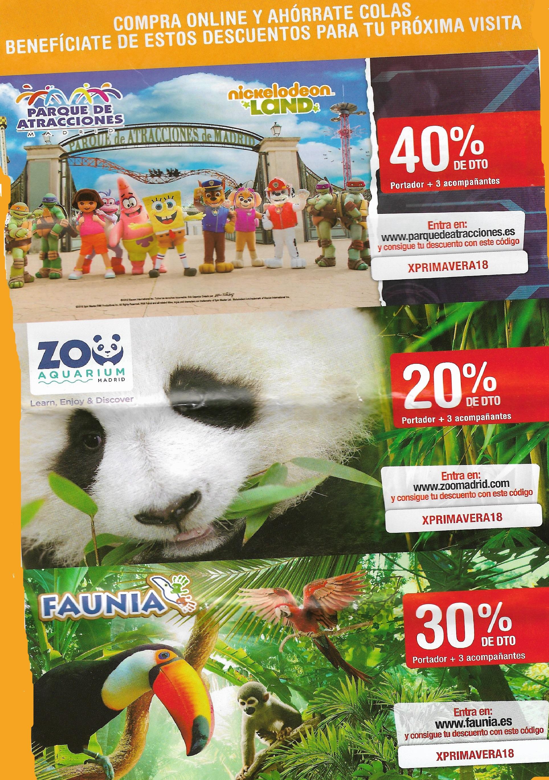 Descuentos en Parque de atracciones, Zoo & Faunia