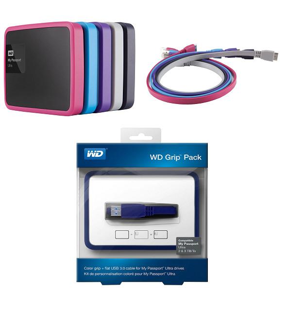 Grip Pack Western Digital (Funda + cable USB 3.0) para disco duro portátil de 2/3TB