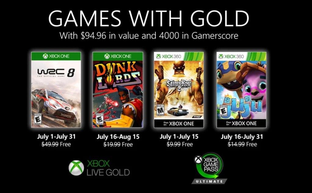 Games with gold Julio de 2020