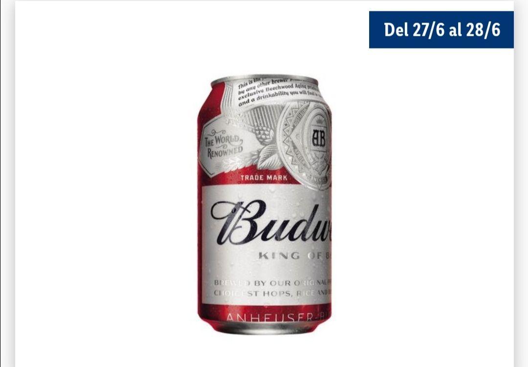 Budweiser® Cerveza 2a unidad al 70% (precio 2a ud a 0,24€ del 27/06 al 28/06)