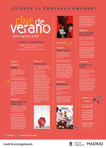 Cine de verano GRATIS en Arganzuela