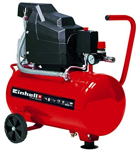 Einhell 4007325 TC-AC 190/24/8 - Compresor de aire, depósito de 24 l, 2850 rpm, 8 bar, 1500 W, 220-240 V, 50 Hz