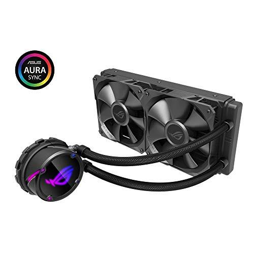 ASUS ROG Strix LC 240 - Sistema de refrigeración líquida de CPU, Aura Sync RGB, Tubo Goma Reforzado 38 cm, Ventiladores ROG RGB optimizados