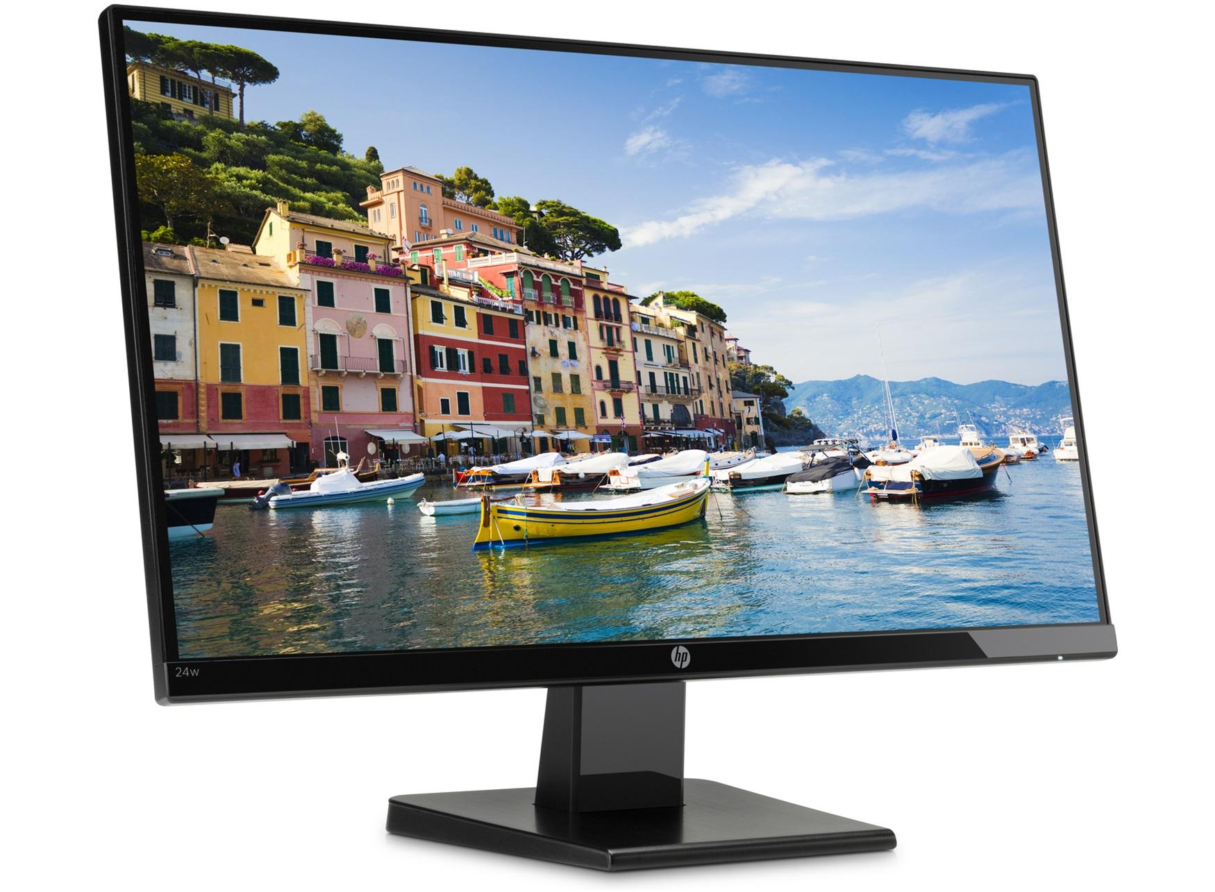 """HP 24w - Monitor 24"""" (Full HD, 1920 x 1080 pixeles, 5 ms, 1 x HDMI, 1 x VGA, 16:9), IPS"""
