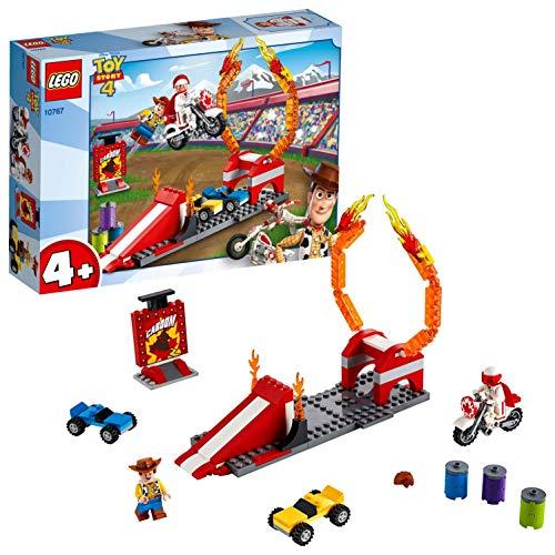 LEGO 4+ Toy Story 4: Espectáculo Acrobático de Duke Caboom, Juguete de Construcción, Incluye Motocicleta de Juguete y Rampa de Saltos