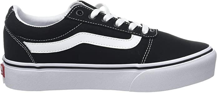 Vans Negro Canvas Black White