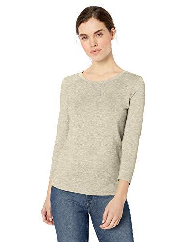 TALLA M-L - Daily Ritual: camiseta de manga 3/4 de algodón ligero para mujer