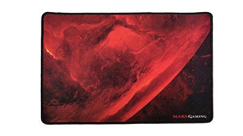Mars Gaming MRMP0 - Alfombrilla gaming 350x250x3mm (superficie de tela con suavidad y precisión extrema, base de caucho, bordes reforzados)