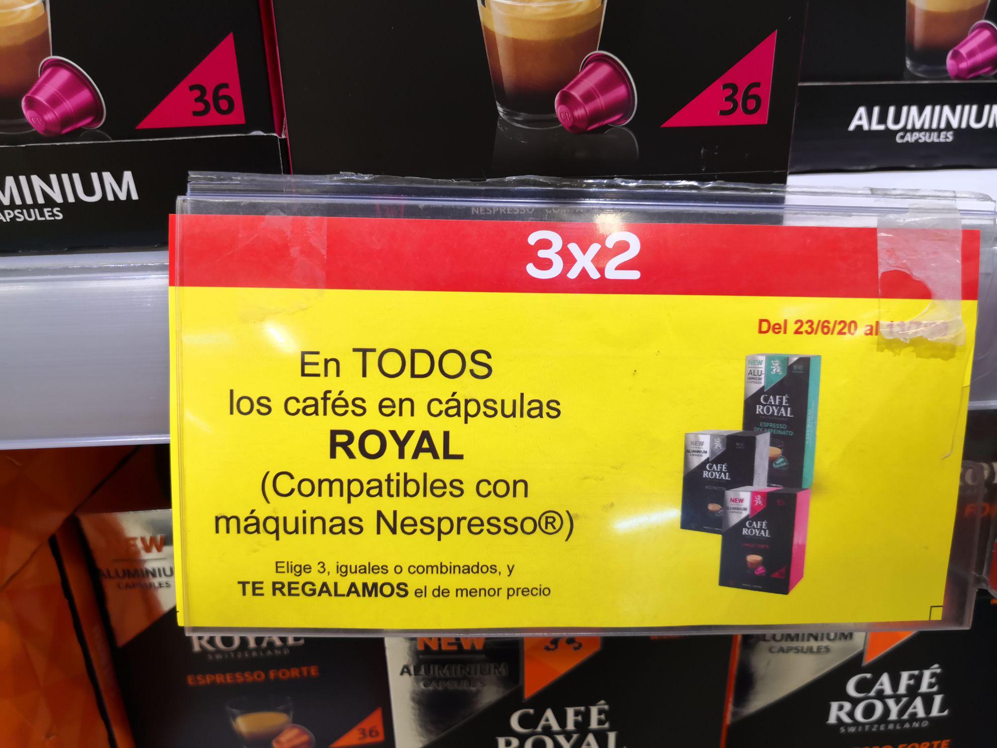 108 cápsulas café Royal para Nespresso en Carrefour