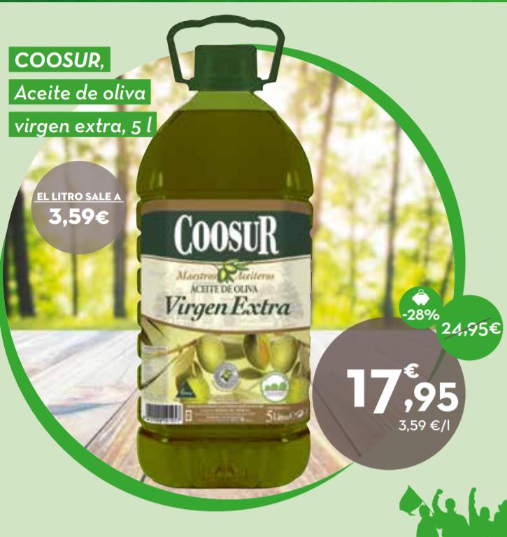 Aceite de oliva virgen extra Coosur