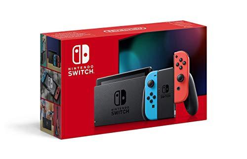 Nintendo Switch V2 (Azul Neón o Gris) Desde Amazon Francia con una tarjeta gamivo