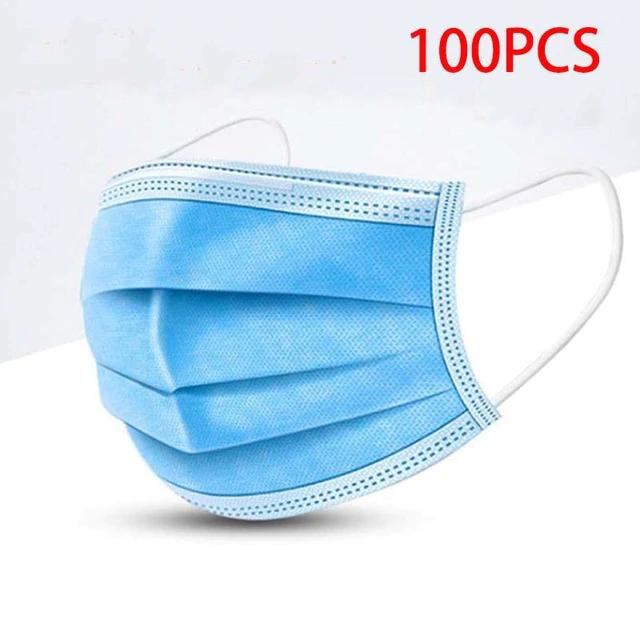 100 Mascarillas higiénicas 3 capas