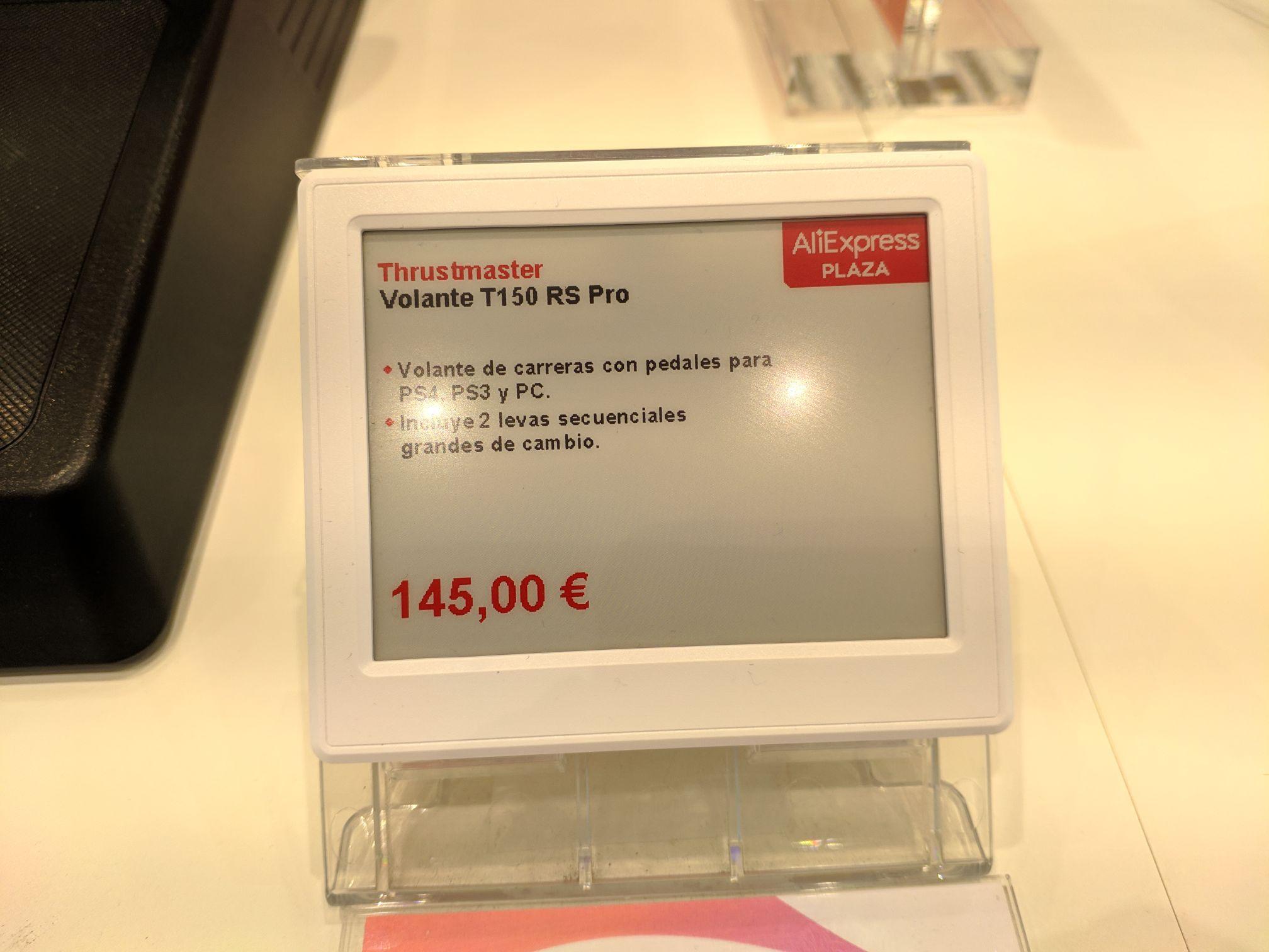 Thustmaster T150 RS PRO en Aliexpress Plaza CC Finestrelles (Esplugues de Llobregat)