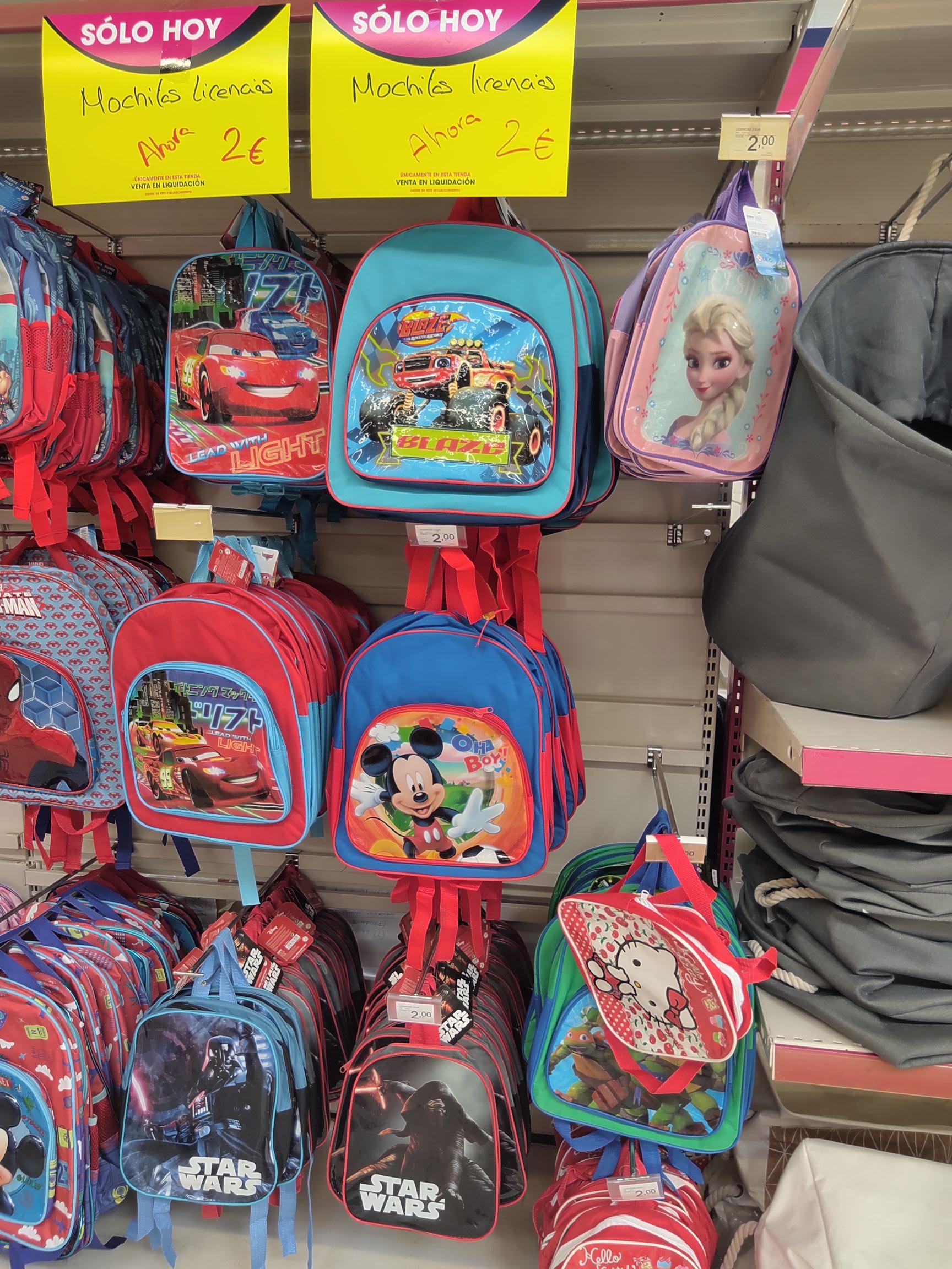 Mochilas Disney en Eroski Utrera