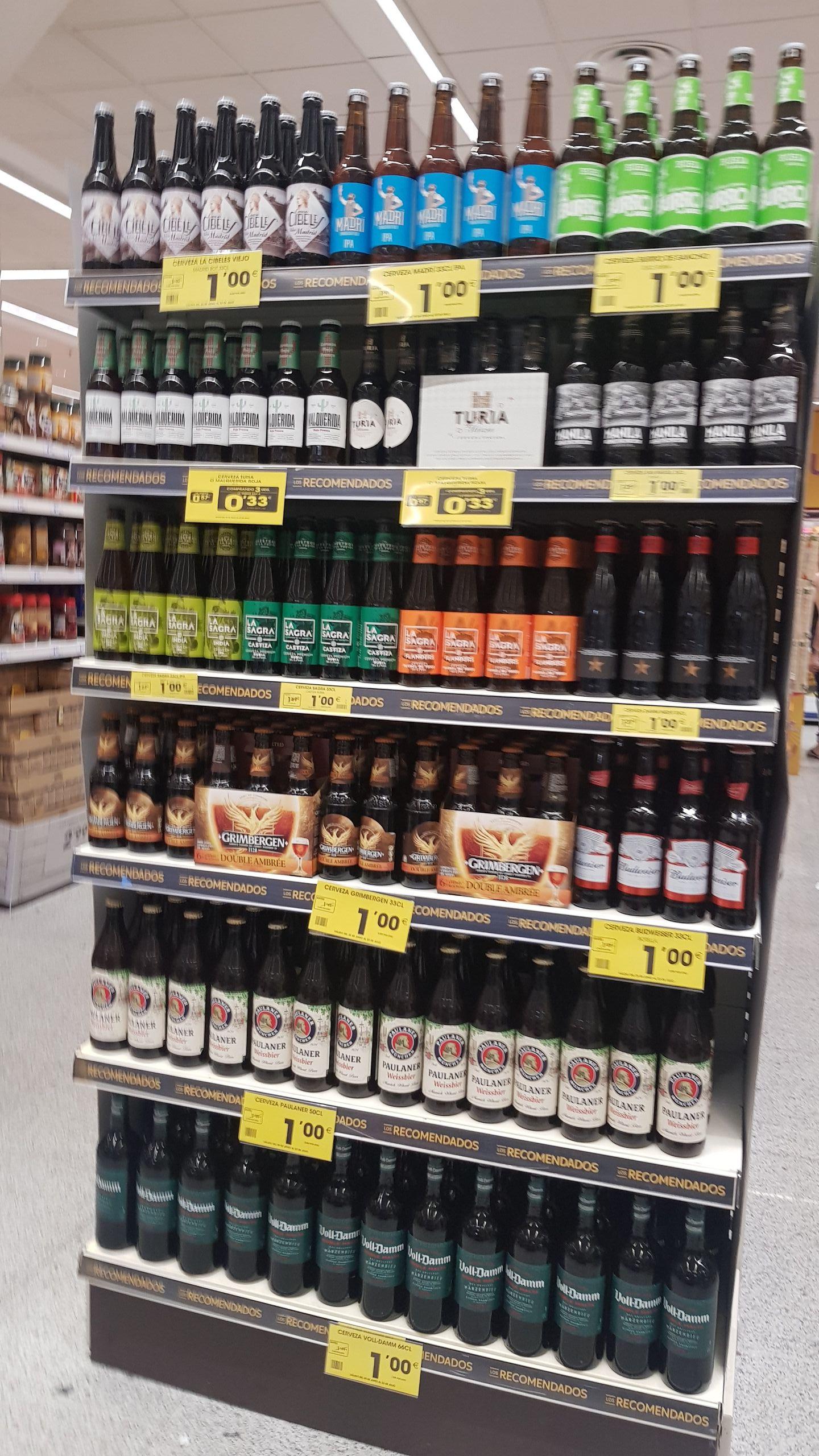Cervezas a 1 euro o menos, en supermercados ahorramas
