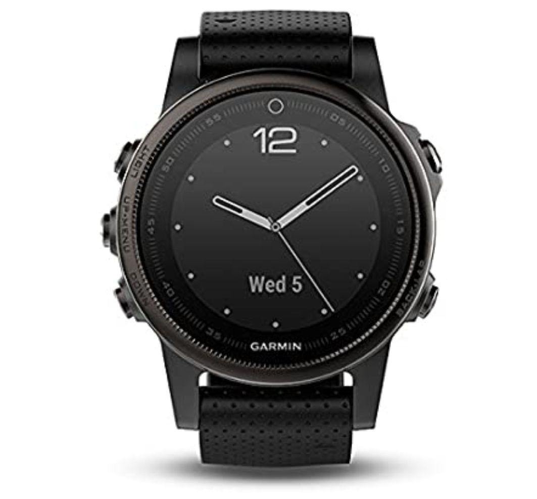 Garmin Fenix 5S Bluetooth Black Sport Watch–Sport reloj (Black, Polymer, Stainless Steel, Water resistant, silicona, 10ATM) *Mínimo*