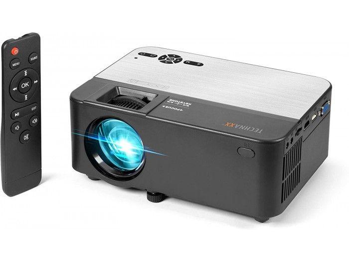 Mini proyector Technaxx 4785 con Reproductor Multimedia Negro