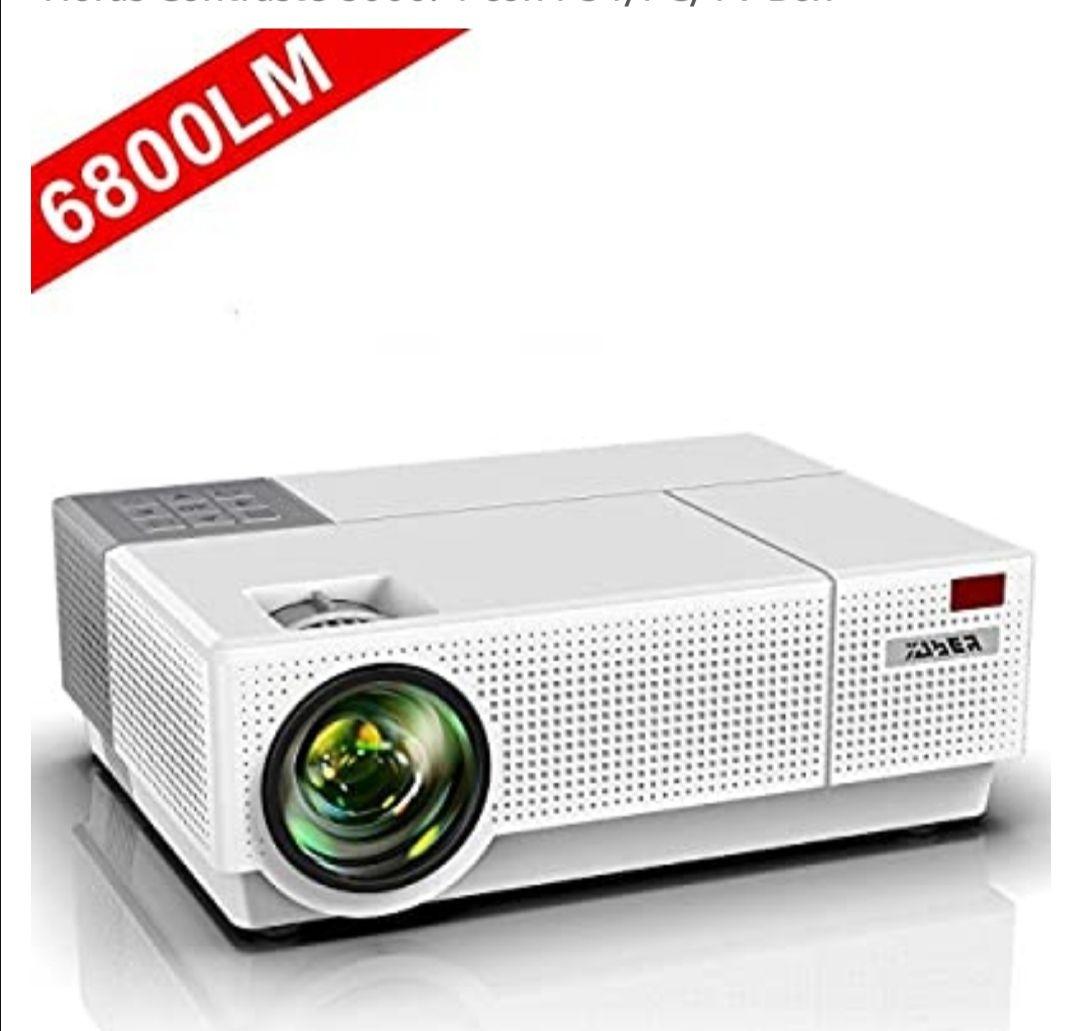 Proyector, YABER 6800 Lúmenes Proyector Full HD 1920x1080P Nativo Soporta 4K Corrección Trapezoidal 4D de ±50° Proyector Cine en Casa