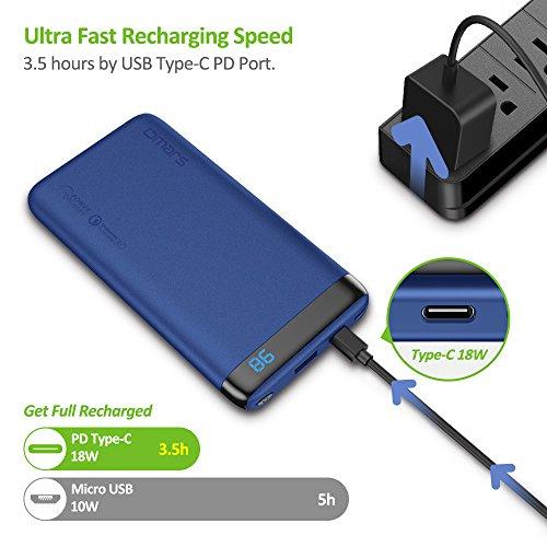 Omars PowerBank Carga Rápida PD & QC3.0 18W - 10000 mAh