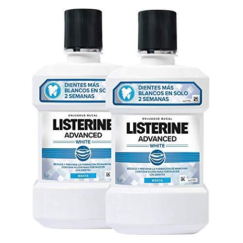 OFERTA en vários Listerines - Enjuague Bucal Blanqueador Avanzado 2 x 1000 ml 2 Unidades