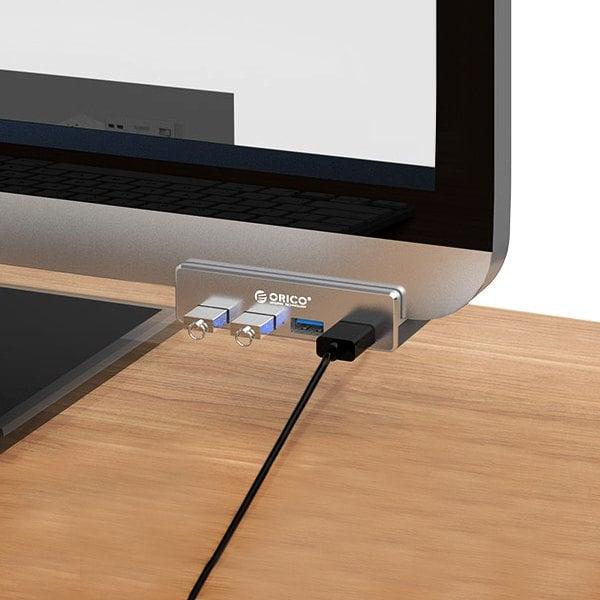Multi-port USB 3.0 Hub Estación de carga Cargador de escritorio con diseño de hebilla