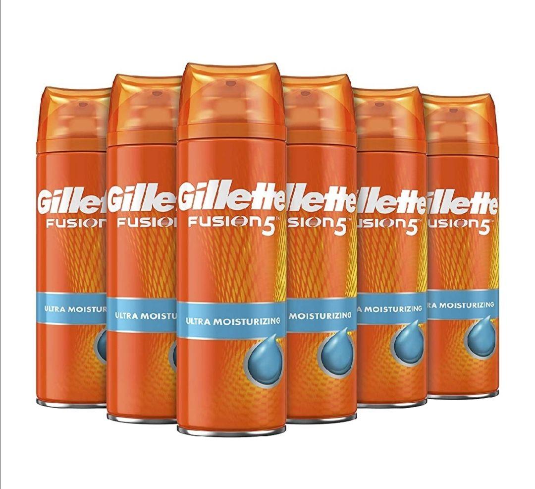 Gillette Fusion5 Ultra Hidratante Gel De Afeitado Deja La Piel Suave Y Tersa 200 ml - Pack de 6 (Precio mínimo)
