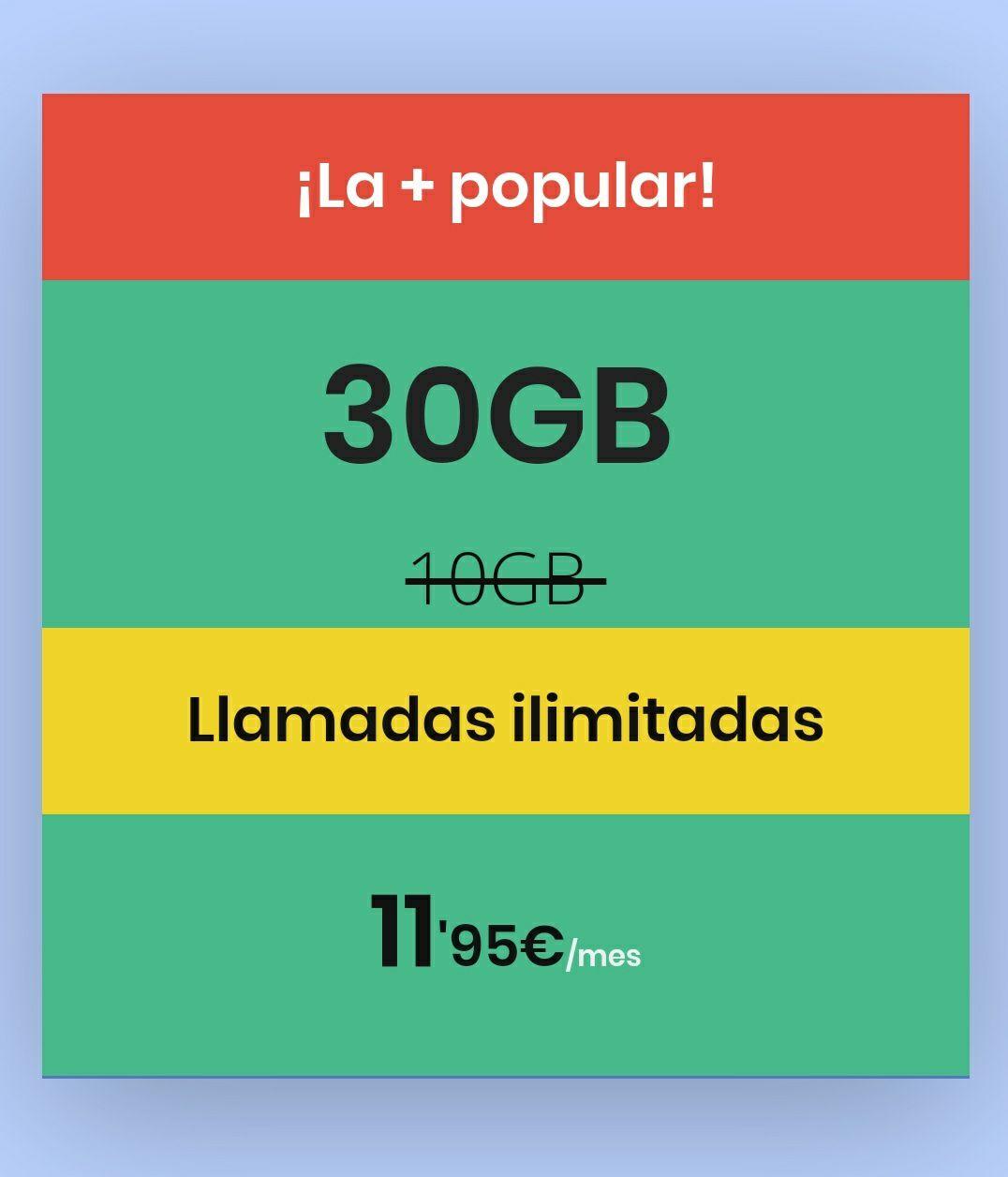 30GB+LLAMADAS ILIMITADAS