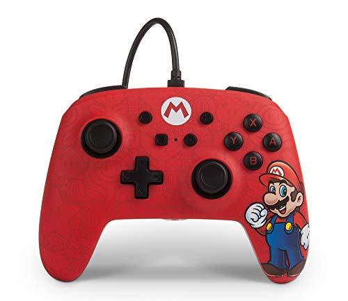Mando con cable Mario para Nintendo Switch