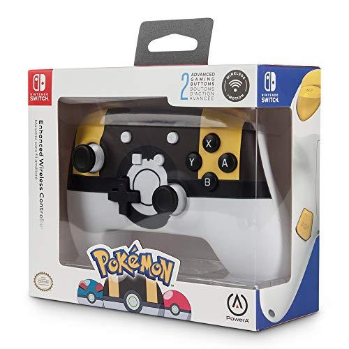 PowerA - Mando inalámbrico mejorado Pokémon Ultra Ball (Nintendo Switch