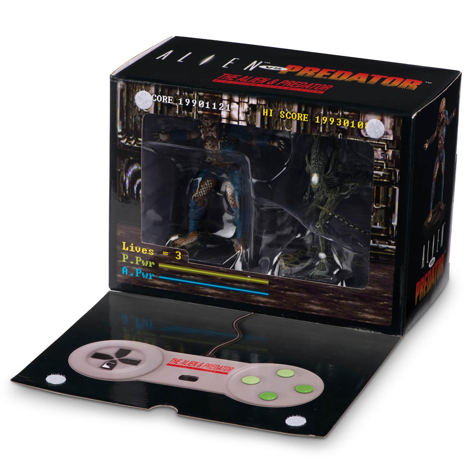 Pack 2 Figuras Alien v Predator Videojuego SNES - Eaglemoss