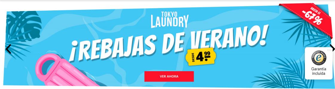 Rebajas de Verano hasta un -67€ en Tokyo Laundry.