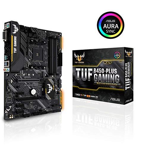 Asus TUF B450-Plus Gaming Motherboard Socket AM4 (ATX, AMD B450, DDR4 Memory, M.2, Native USB 3.1 Gen2, Aura Sync)