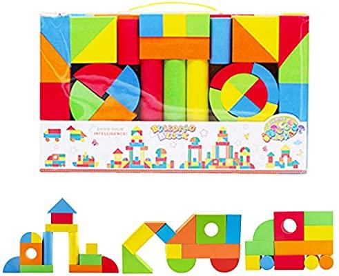 131 piezas. Bloques de Construcción Gomaespuma