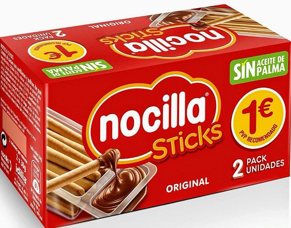 Sticks Nocilla Original Sin Aceite de Palma- Pack de 2 X 30g