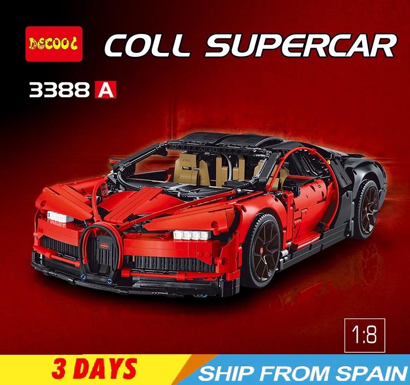 Para los amanetes de LEGO Bugatti Chiron Technic 3786 Piezas