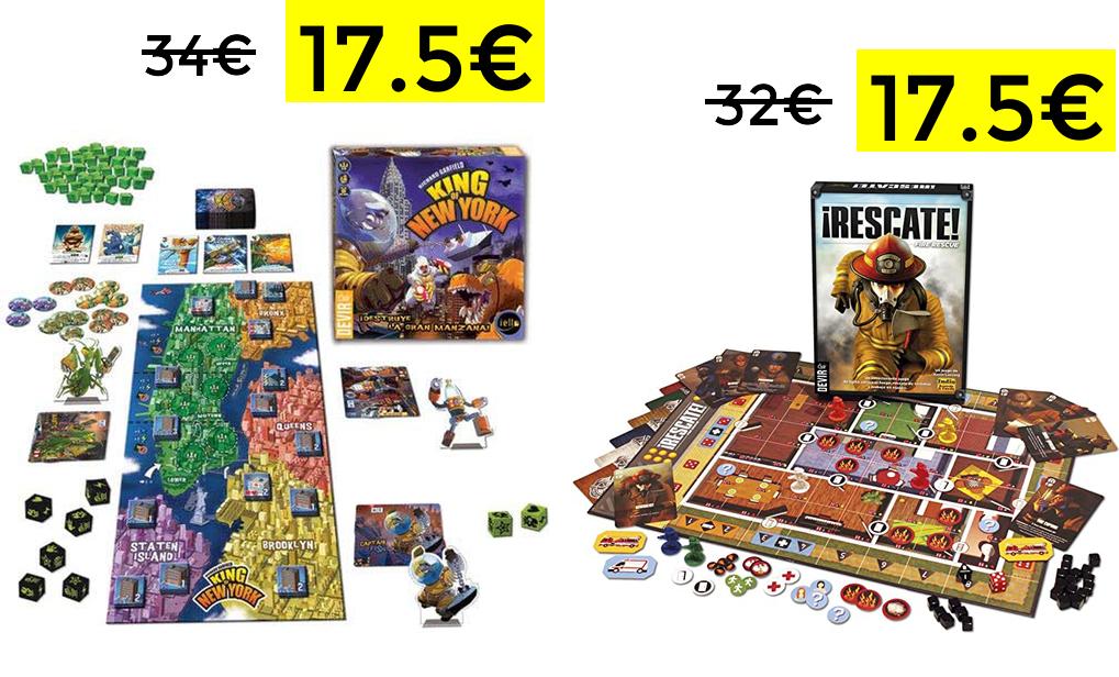 Descuentazos en juegos de mesa DEVIR 17.5€