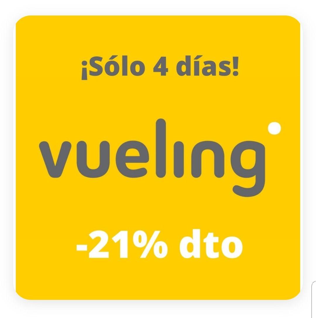21% de descuento en todos los vuelos de Vueling