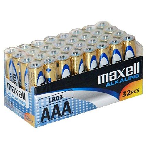 32 pilas AAA alcalinas