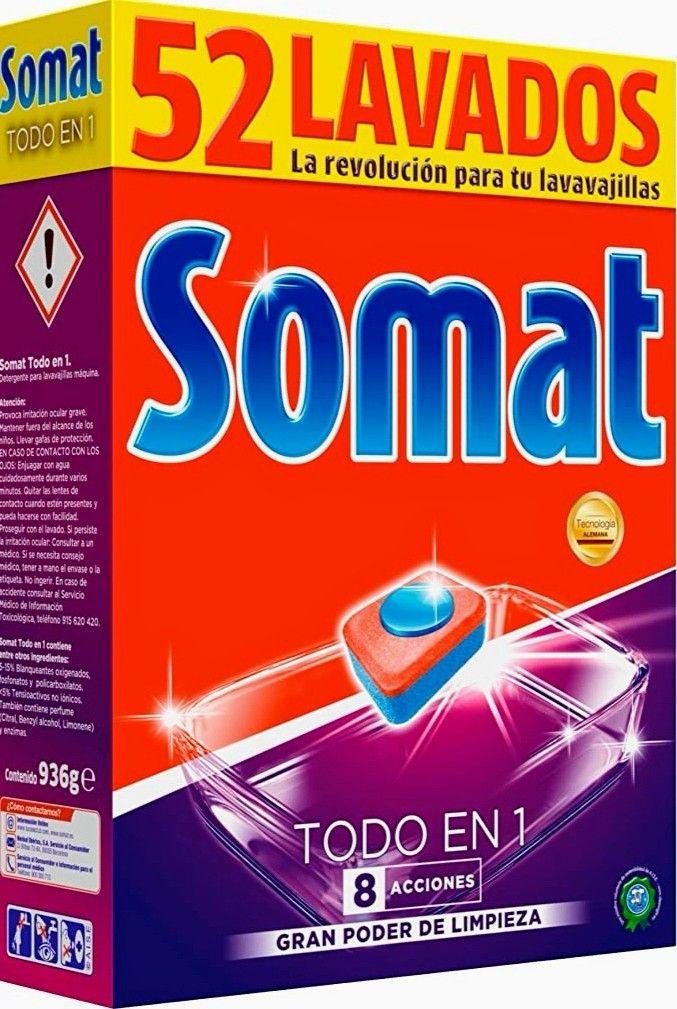 Somat Todo en 1 Pastillas Lavavajillas - 52 Dosis (Precio al tramitar)