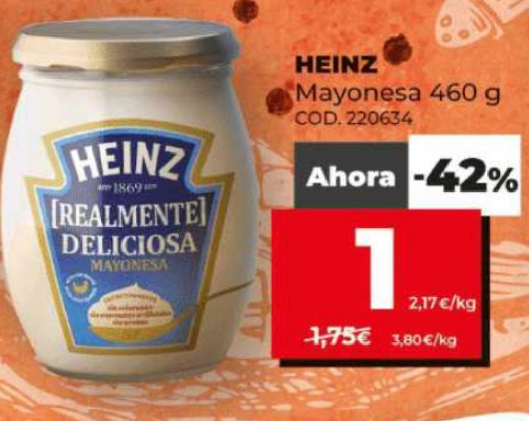 mayonesa heinz 460 ml en supermercados dia