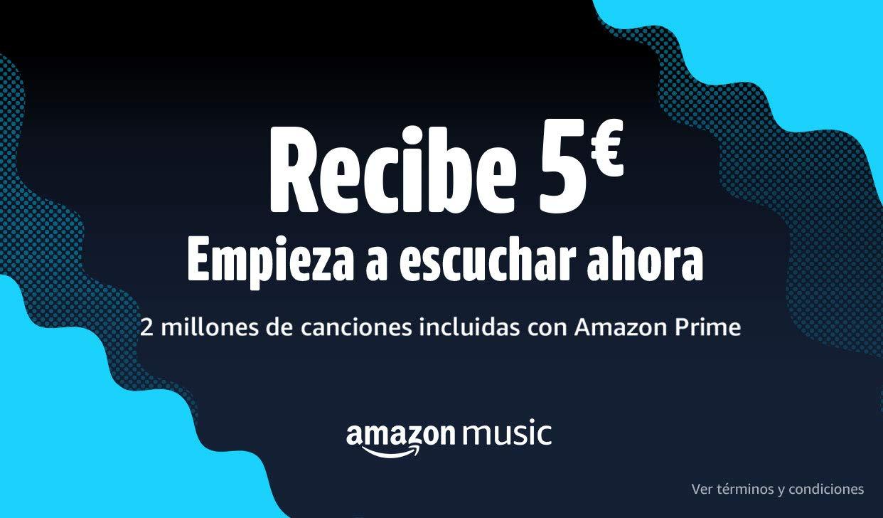 Escucha una canción en Amazon Music y recibe 5€ (Cuentas seleccionadas)