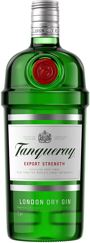 Ginebra Tanqueray Dry Gin 1 litro solo 11.9€