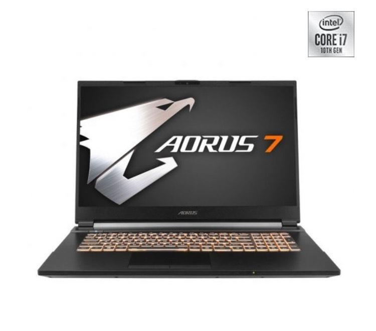 """Portatil Gaming Gigabyte AORUS 7 KB-7ES1130SD Intel Core i7-10750H/16GB/512GB SSD/RTX2060/17.3"""""""