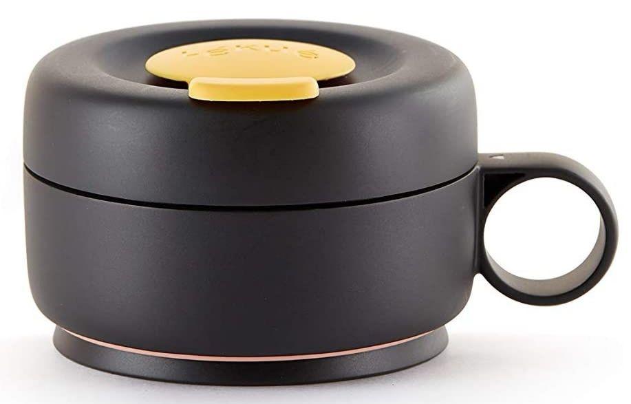 Lékué - Mug To Go, Taza plegable reutilizable, 100% hermética, 350 ml.