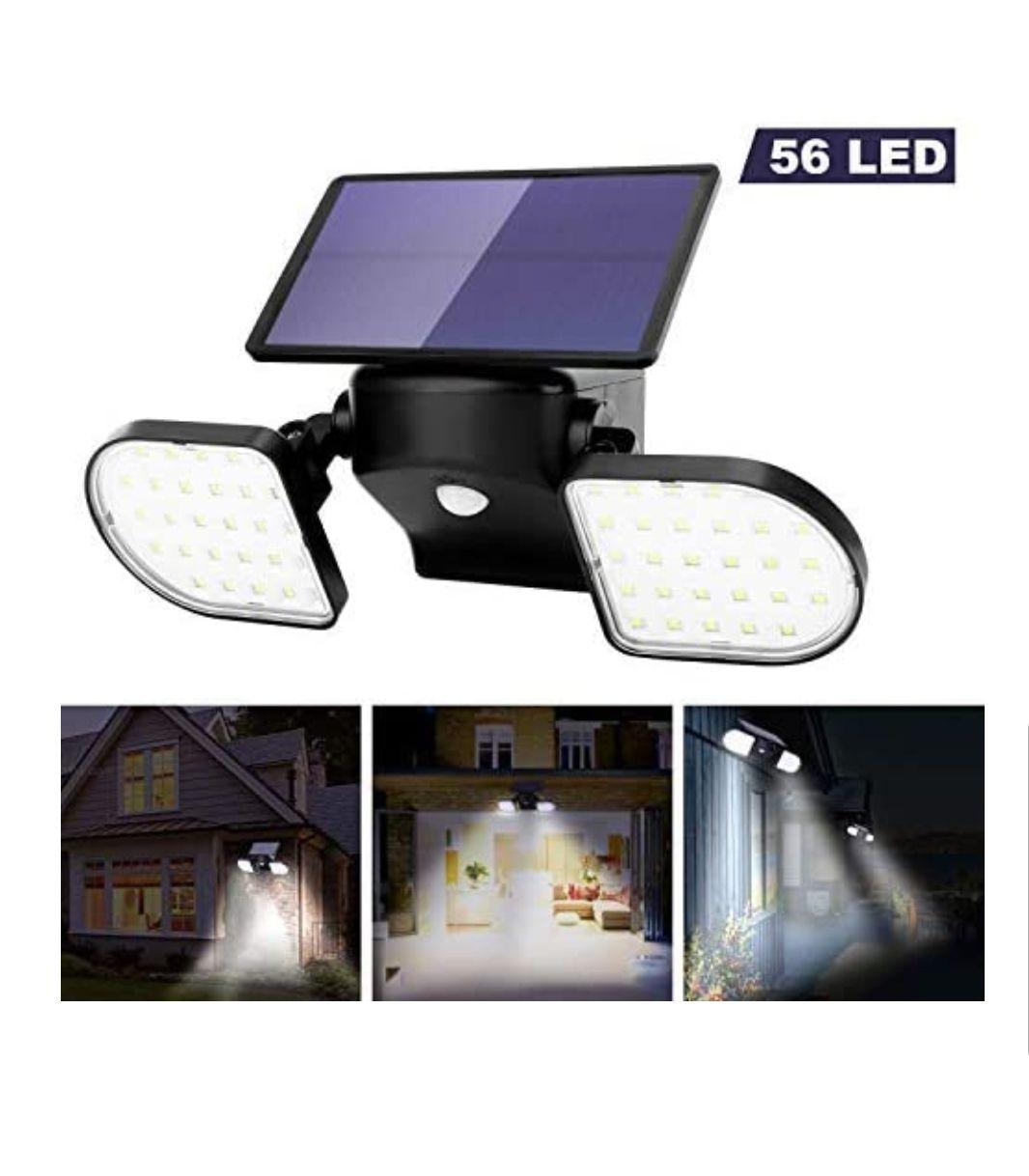 Lámpara solar con sensor de movimiento