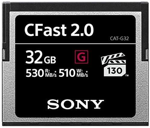 SONY Tarjeta de memoria Sony CFast 2.0 Serie G de 32 GB SATA III