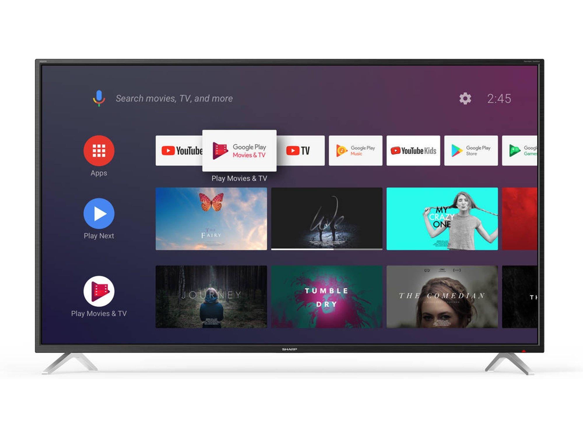 "TV Sharp 65"" BL2EA 4K, Smart TV, Direct LED, A+"